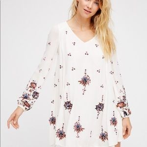 Free people embroidered swing dress.